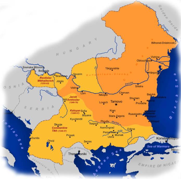 Vtoraja-bolgarskaja-imperija-1241-1256