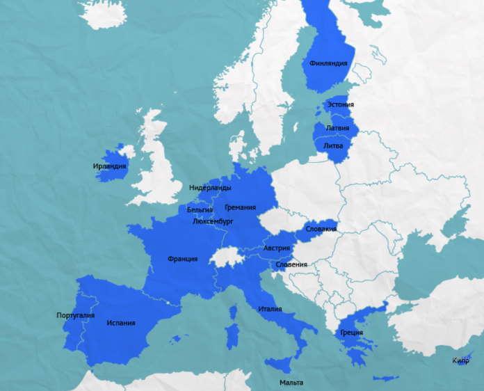 Какие страны используют евро как валюту