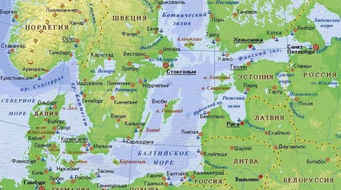 Какие порты Балтийского моря есть в России